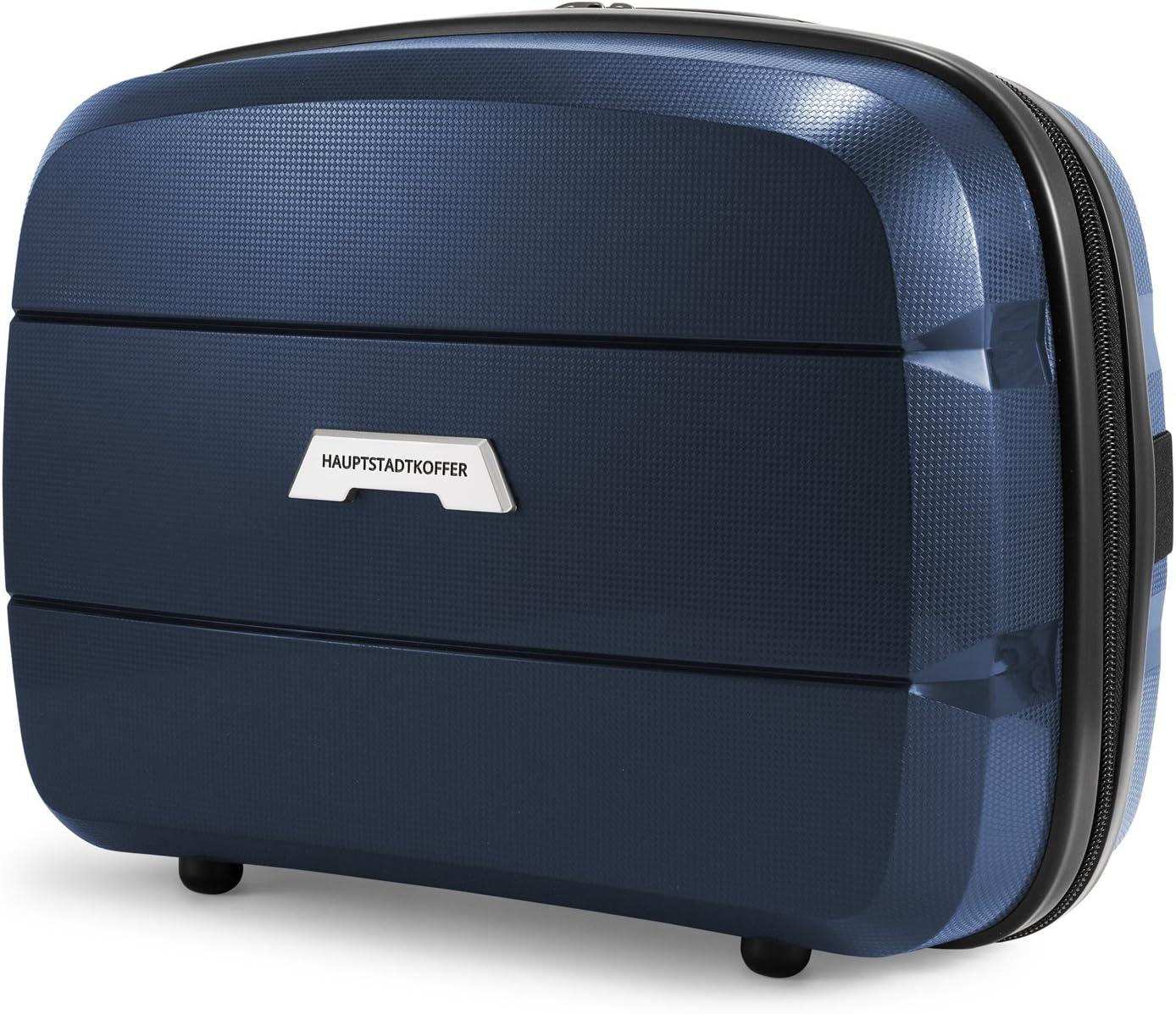 HAUPTSTADTKOFFER - BRITZ - Neceser rígido Beauty Case para Viaje, Beautycase, Transporte cómodo en la Maleta, Maletin cosmético, 23 cm, 12 L - Azul Oscuro