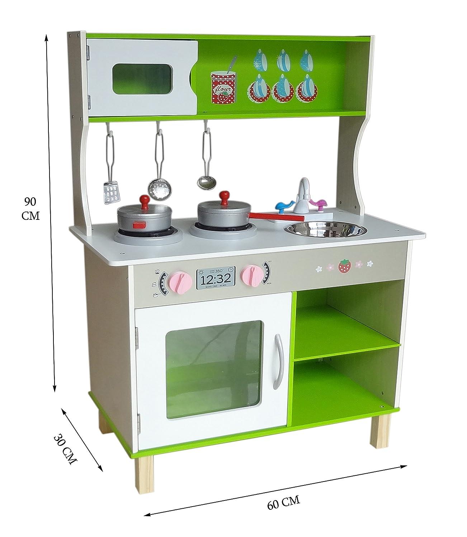 Kiddi Style Cocina Madera Infantil – Cocina Juguete Niños Grande Moderna