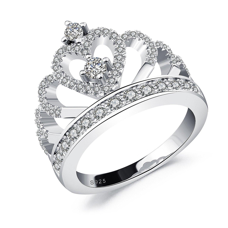 Silver Crown Ring,Silver Princess Ring
