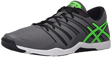ASICS Men's Met Conviction Training Shoe, Titanium/Green Gecko/Black, ...