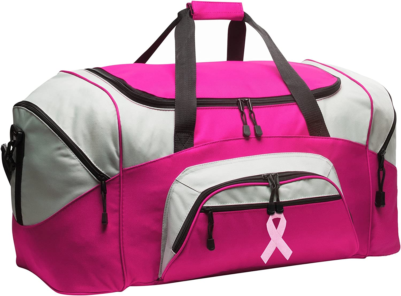 LARGE Pink Ribbon Duffel Bag Ladies
