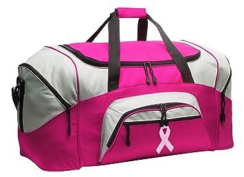 Amazon.com: Lazo rosa bolsa deportiva señoras de lazo rosa ...