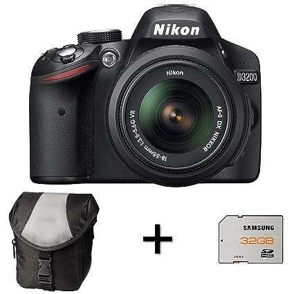 Nikon D3200 - Cámara réflex Digital con Funda y Tarjeta de Memoria ...