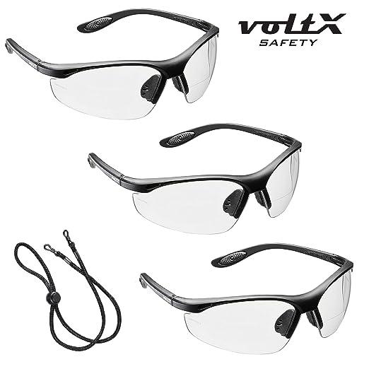 43 opinioni per 3 x voltX 'CONSTRUCTOR' Occhiali di sicurezza da lettura BIFOCALI con
