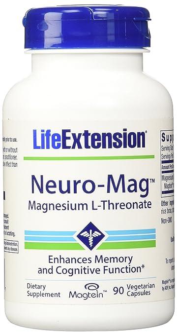Life Extension - Neuro-Mag, Magnesium L-Threonate Dietary Supplement 90  capsules