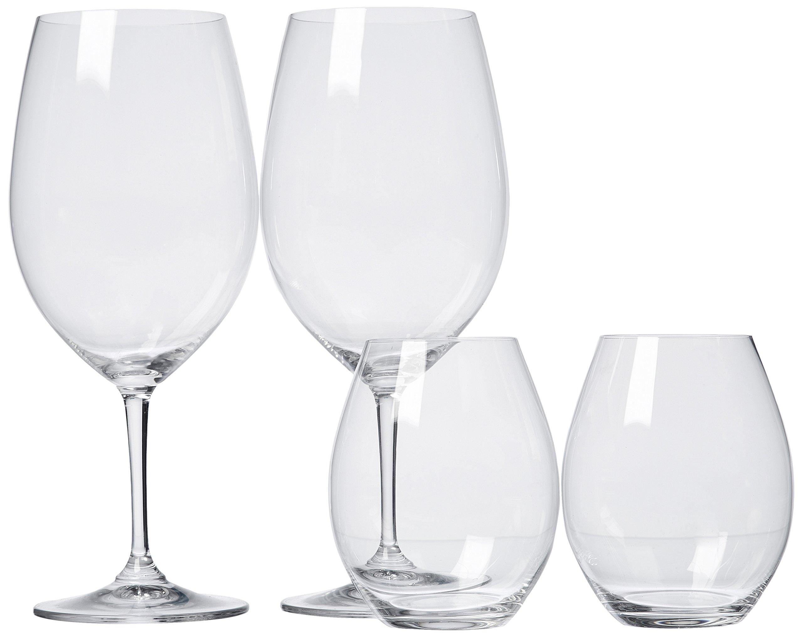 Riedel 4 Piece Vinum XL Cabernet/Sauvignon and O Syrah/Shiraz Red Wine Glass Set