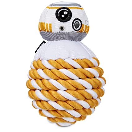 Amazon Com Star Wars Bb 8 Rope Ball Dog Toy Pet Supplies
