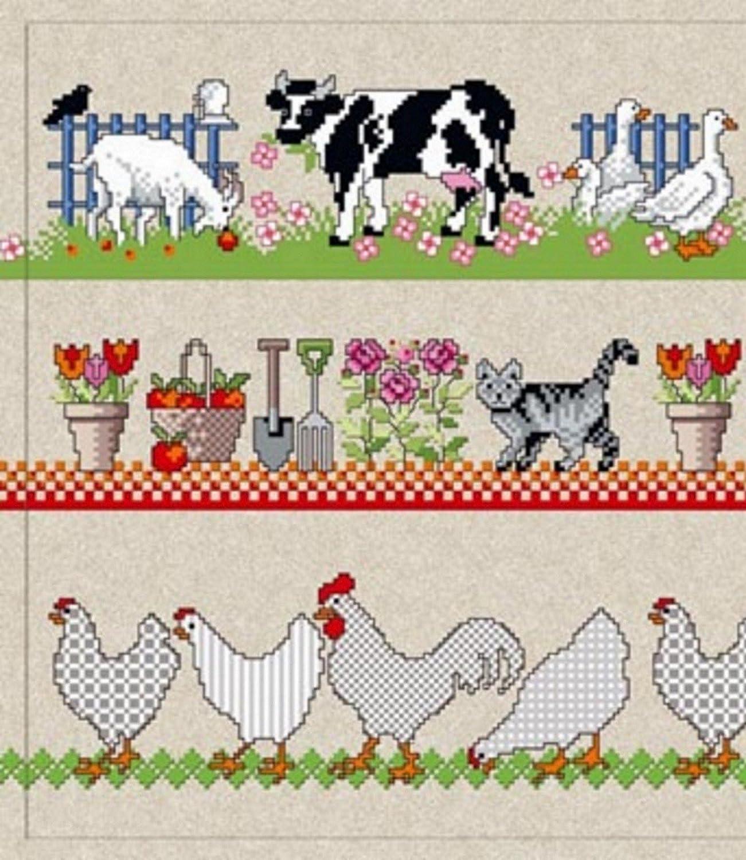 Vintage T/ürmatte waschbar Bauernhof Farm Tiere waschbare Fu/ßmatte