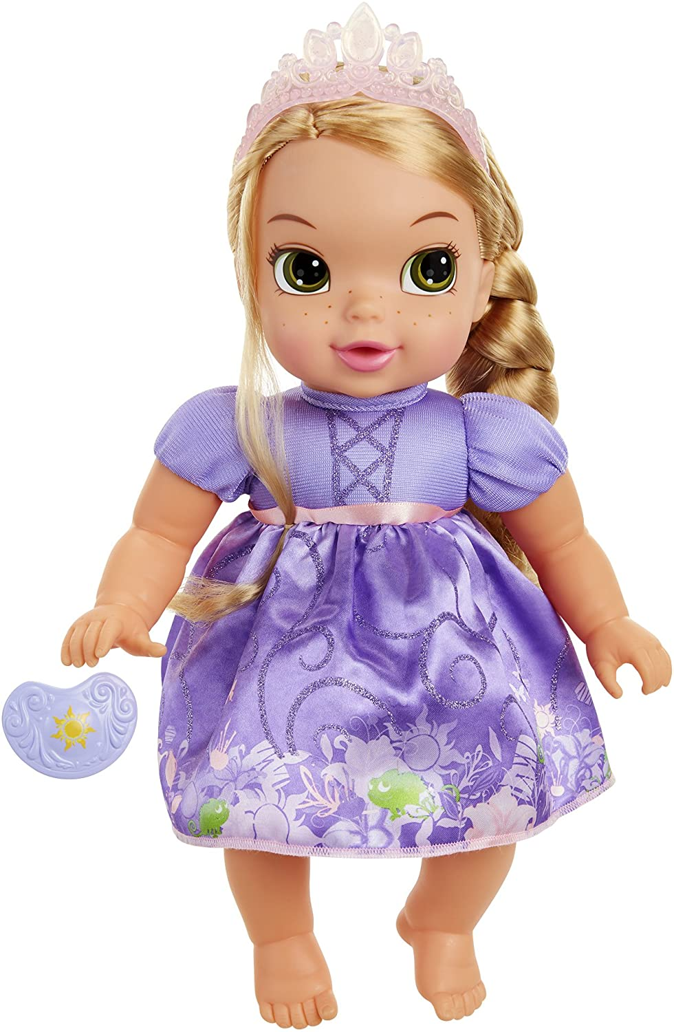 Amazon Com Disney Princess Deluxe Baby Rapunzel Doll With Pacifier Baby Doll Toy Toys Games
