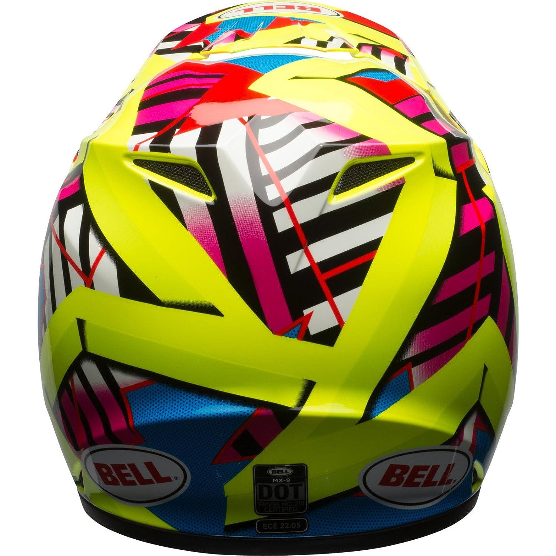 Bell Cascos MX 2017 MX-9 MIPS casco de adulto, Tagger Double Trouble Hi-Viz/amarillo, tamaño pequeño: Amazon.es: Coche y moto