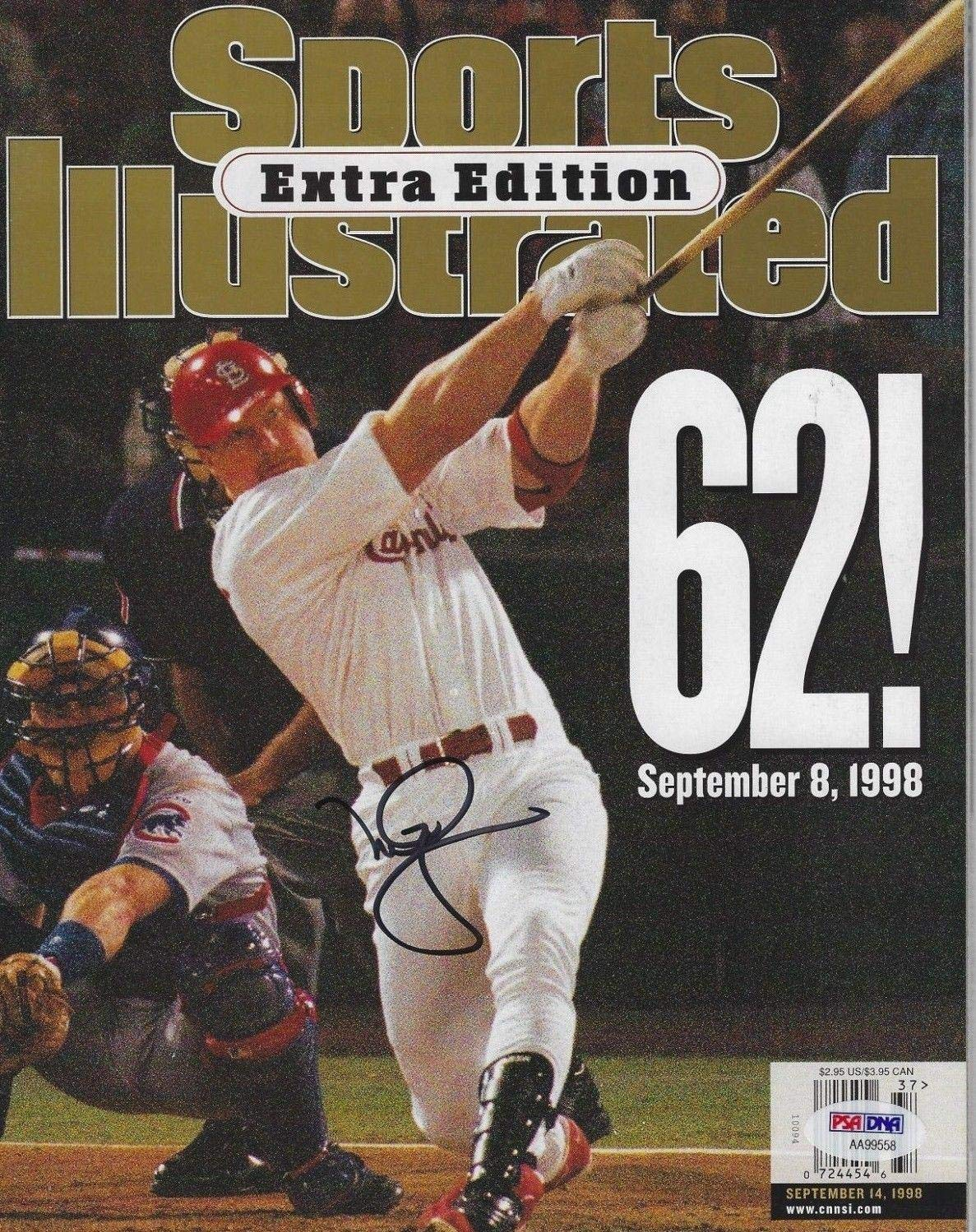 MARK McGWIRE Signed SPORTS ILLUSTRATED EXTRA EDITION with COA (NO Label) PSA/DNA Certified Autographed MLB Magazines