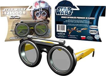 STAR WARS Episode I 3D GLASSES Anakin Podracer Yello Goggle design CLOTH BAG toy
