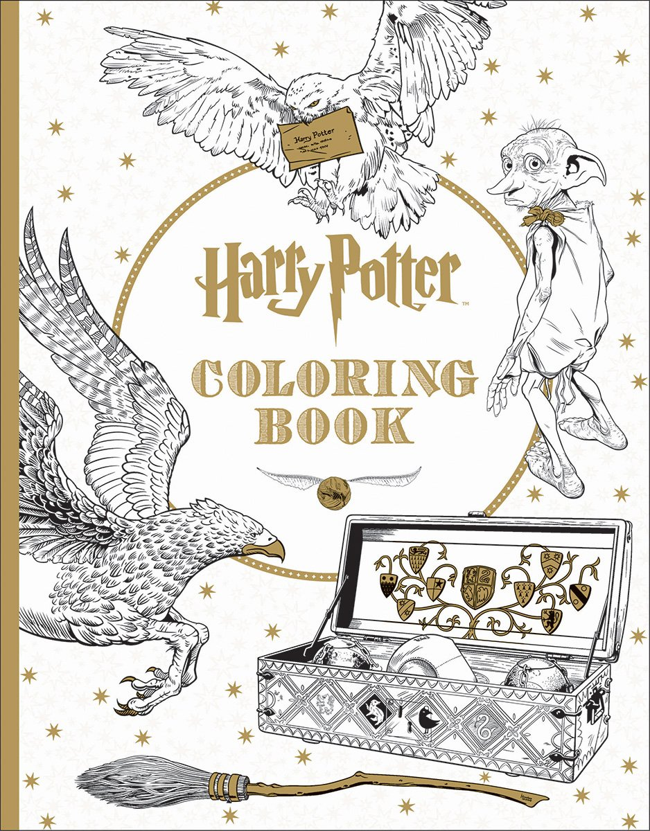 Harry Potter Coloring Book Filled with intricate illustrations and elaborate designs used in the making of the Harry Potter films, this book invites you to imbue the wizarding world with color in your own explorations of Hogwarts Castle, the Forbidden Forest, and much more.