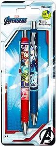 Marvel Avengers Gel Pens 2 Pk Featuring Captain America and Iron Man (Avengers Office Supplies, School Supplies)