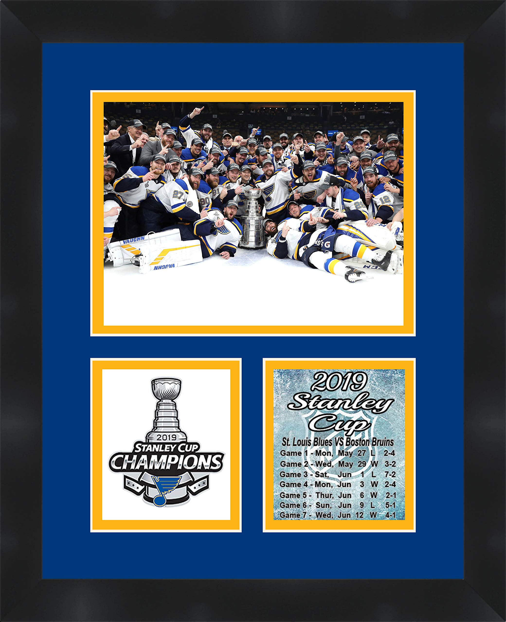 St Louis Blues Stanley Cup Champions 2019 Framed Picture by Frames by Mail