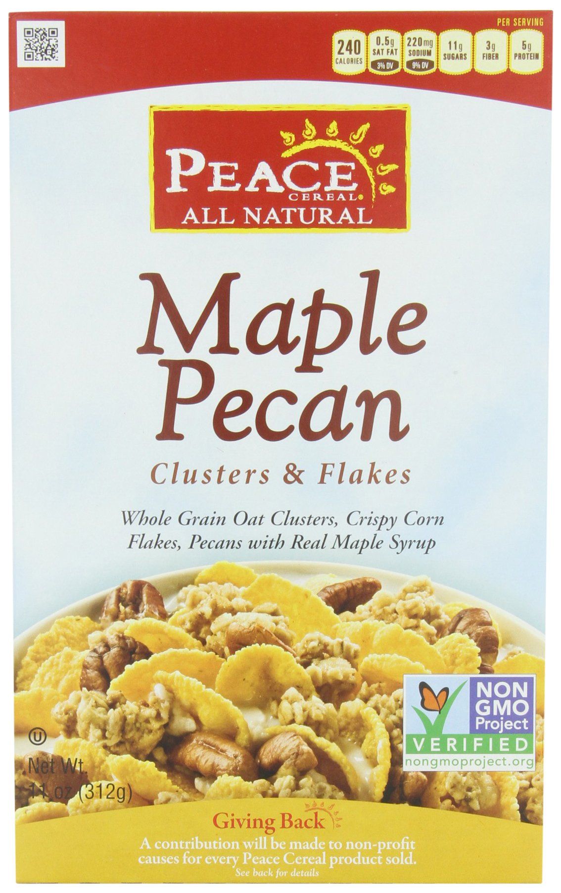 Peace Clusters and Flakes Cereal, Maple Pecan, 11 Ounce (Pack of 3)
