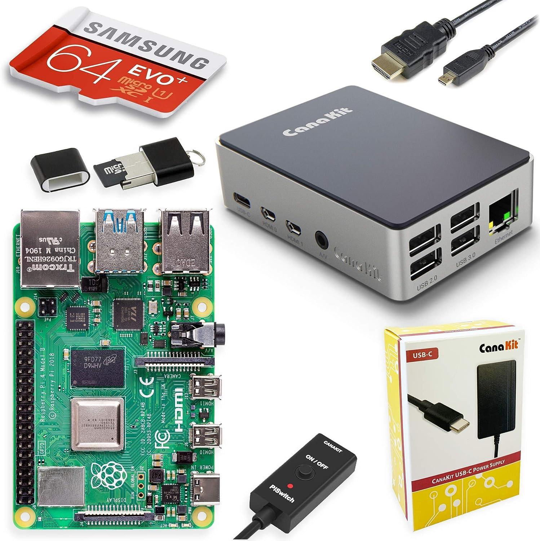 CanaKit 4GB Raspberry Pi 4 Starter PRO 64 Kit $94.99 Coupon