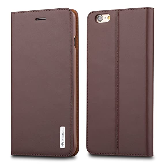 c6ad92db6b2e iPhone 6/6s plus Genuine leather Case,WenBelle Flower Umbrella Series, Wallet  Case