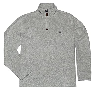 312b4662e ... where can i buy polo ralph lauren mens half zip french rib cotton  sweater small heather