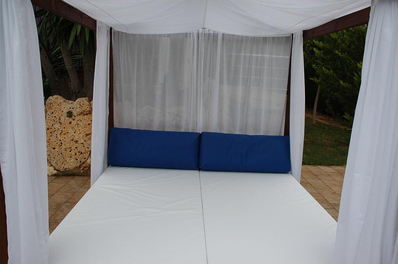 ESTRUCMADER - Cama balinesa con Cama de 2x2m, Techo a 4 Aguas ...