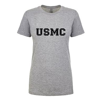 cbf2e69c233 ZeroGravitee USMC Womens Crewneck tee at Amazon Women s Clothing store