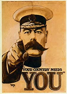 Vintage WW1 Lord Kitchener Britons Your Country Needs You Poster A3//A2//A1 Print