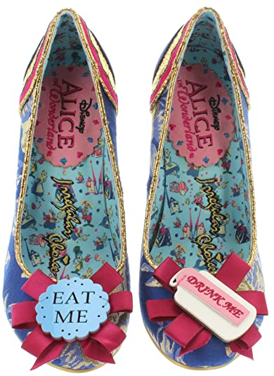 Alice in Wonderland Pumps Flowers Can't Talk 4298 1 Black Multi