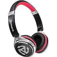 Numark HF150 Suni Deri Kaplı Kulakçıklı DJ Kulaklığı, Siyah/Gümüş