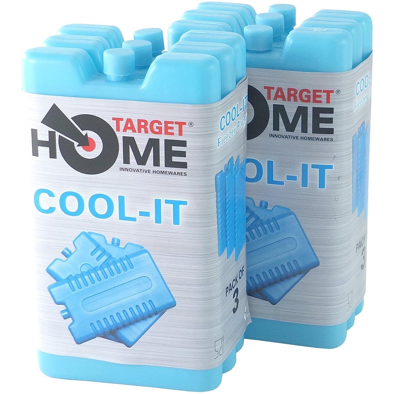 Target Homewares® 6PC Freezer Blocks–Raffredda e per Mantenere Il Cibo Fresco–Utilizzare con Target Cool Box per Un miglior Raffreddamento Target Homewares®