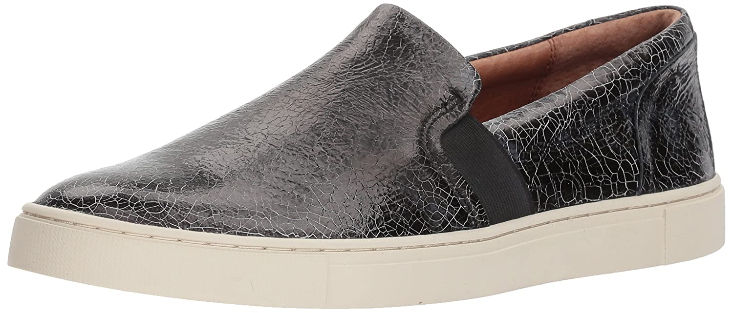 FRYE Women's Ivy Slip Sneaker B072K188GP 6 M US|Metallic Black