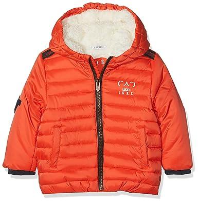 IKKS Doudoune Capuche, Chaqueta para Bebés, (Orange Moyen 76), 6-