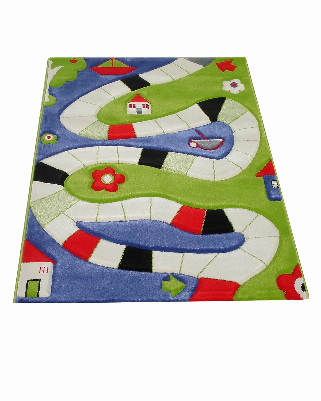 Little Helper PLAYINGWAYBLUE-100150-DE IVI Hypoallergener dicker 3D-Kinderspielteppich
