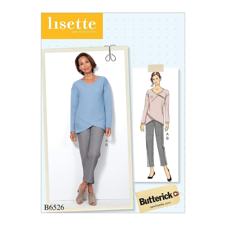 Tissue 17/x 0,5/x 22/cm Mehrfarbig Butterick Patterns 6526/E5/Misses Top und Hosen Schnittmuster