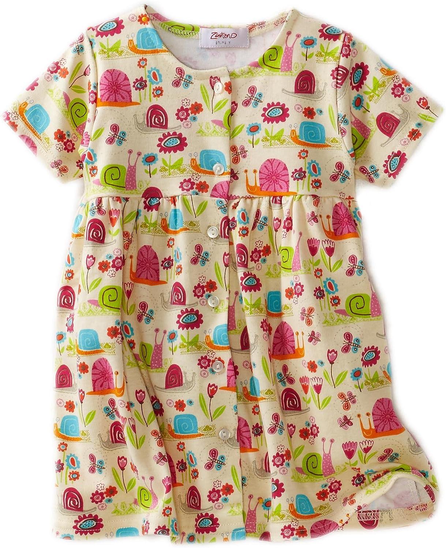 Zutano Baby Girls Garden Snail Short Sleeve Dress