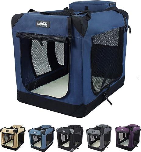 EliteField-3-Door-Folding-Soft-Dog-Crate,-Indoor-&-Outdoor-Pet-Home
