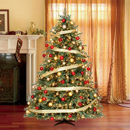 martha stewart living 75 ft pre lit sparkling pine artificial christmas tree with multi
