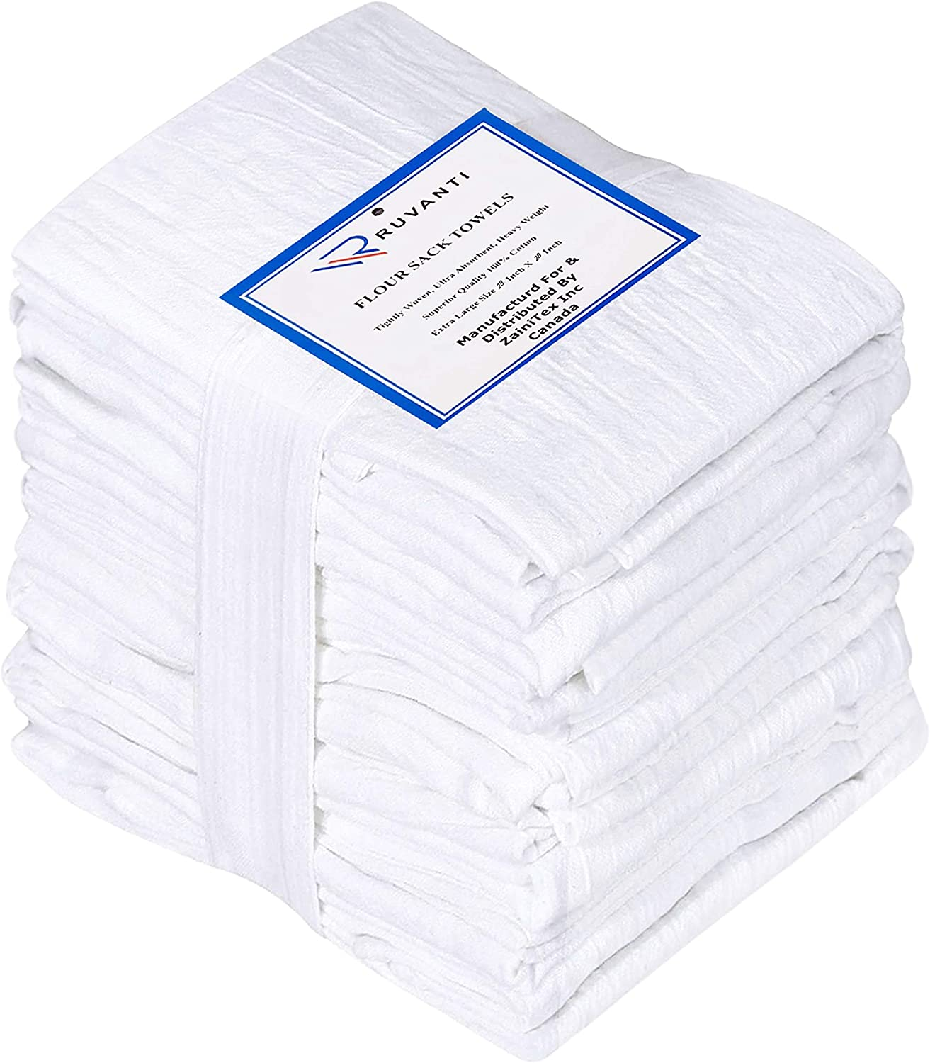 Ruvanti 12 Pack Extra Large Flour Sack Dish Towels (28