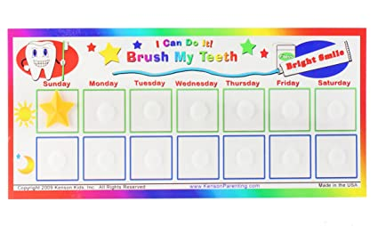 Amazon com i can do it reward chart brush my teeth toys games