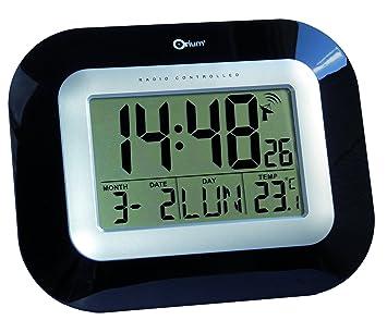 Orium 11828 Pendule RC Digitale laquée MSF, Plastique, Noir, 22,7 x 18 x 3 cm