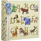 Álbum de fotos infantil con capacidad para 200 fotografías de 10 x 15 cm con alfabeto grande y diseño de animales