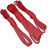 Cuerdas De Bondage Rojo 1x6m + 2x3m o 2x6m + 1x12m juego BDSM juego erótico de la cuerda