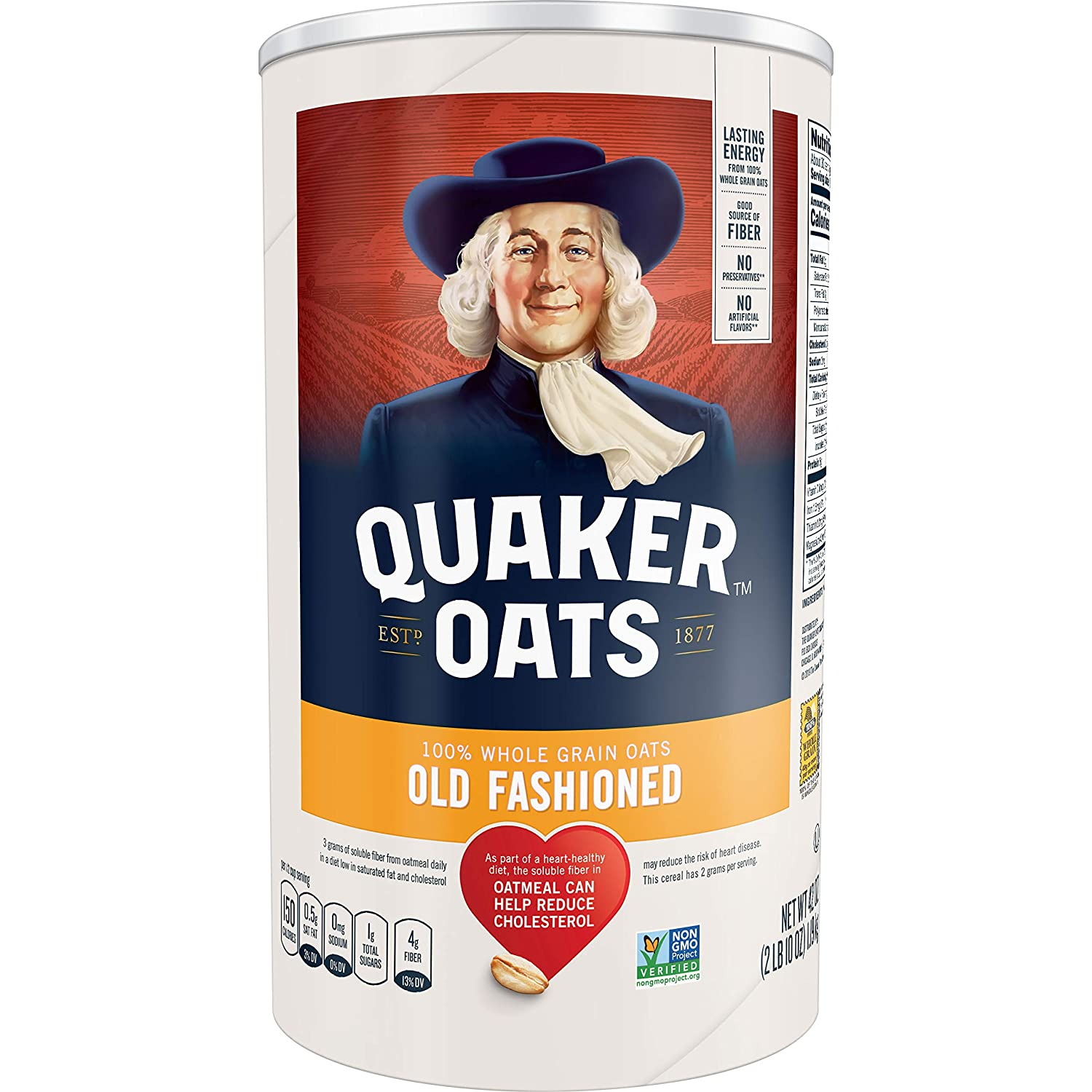 Quaker, Oatmeal, 42 Oz Canister