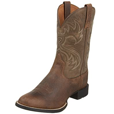 Ariat Mens Heritage Horseman Western Cowboy Boot EarthBrown Bomber