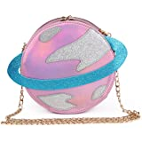 LUI SUI-Stunning Parent-child Circular planet party bag women laser planet orbit bag shoulder bag C54