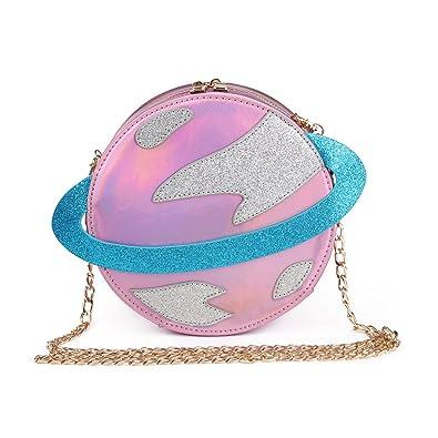 ef025ed4cfef LUI SUI-Stunning Parent-child Circular planet party bag women Bestie handbag  laser planet