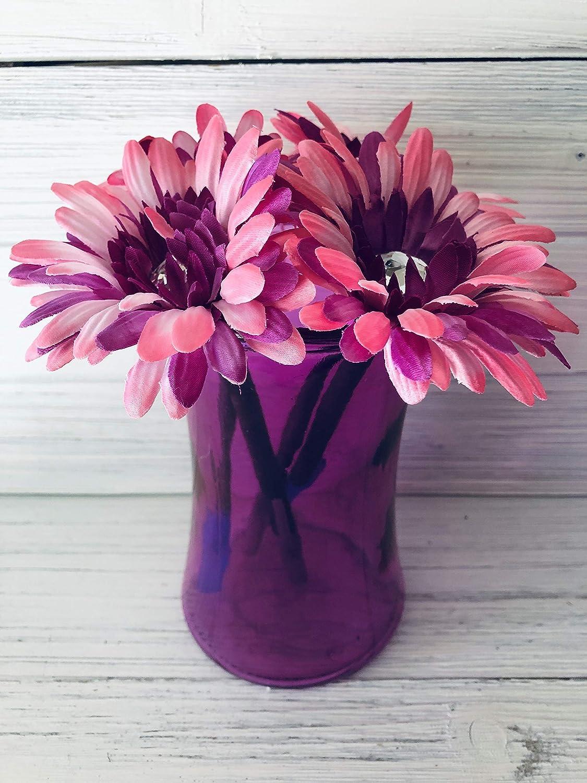 Pink and Purple Daisy Flower Pen Pot New Job or Housewarming Gift