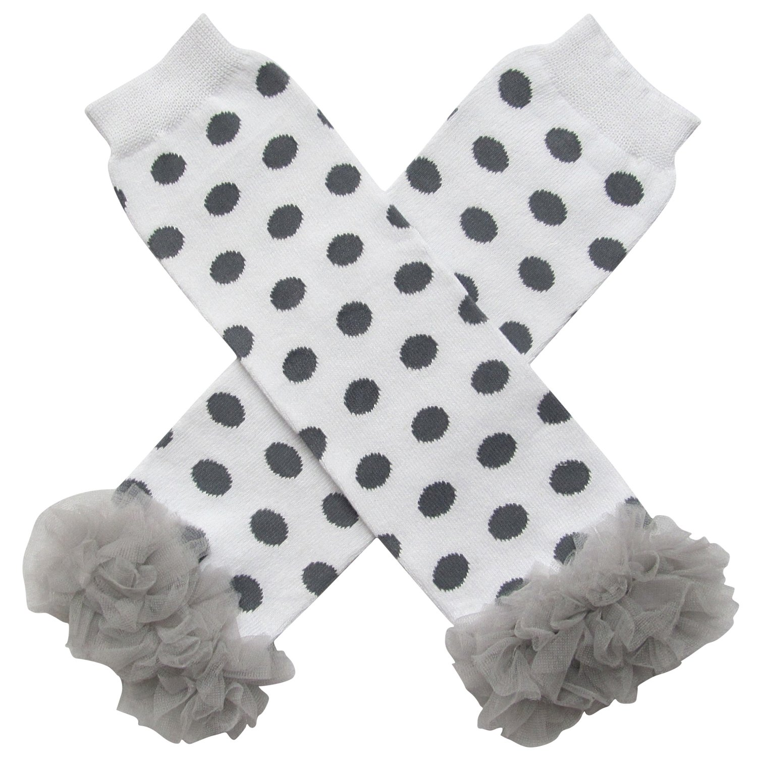 So Sydney Baby Toddler Girl Polka Dot Tutu Chiffon Ruffle Leg Warmers