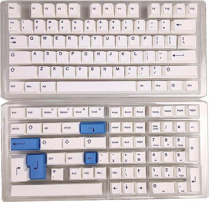 HK Gaming Teclas de sublimación Dye | Perfil Cherry | Teclas PBT gruesas para teclado mecánico (139 teclas, lazo)