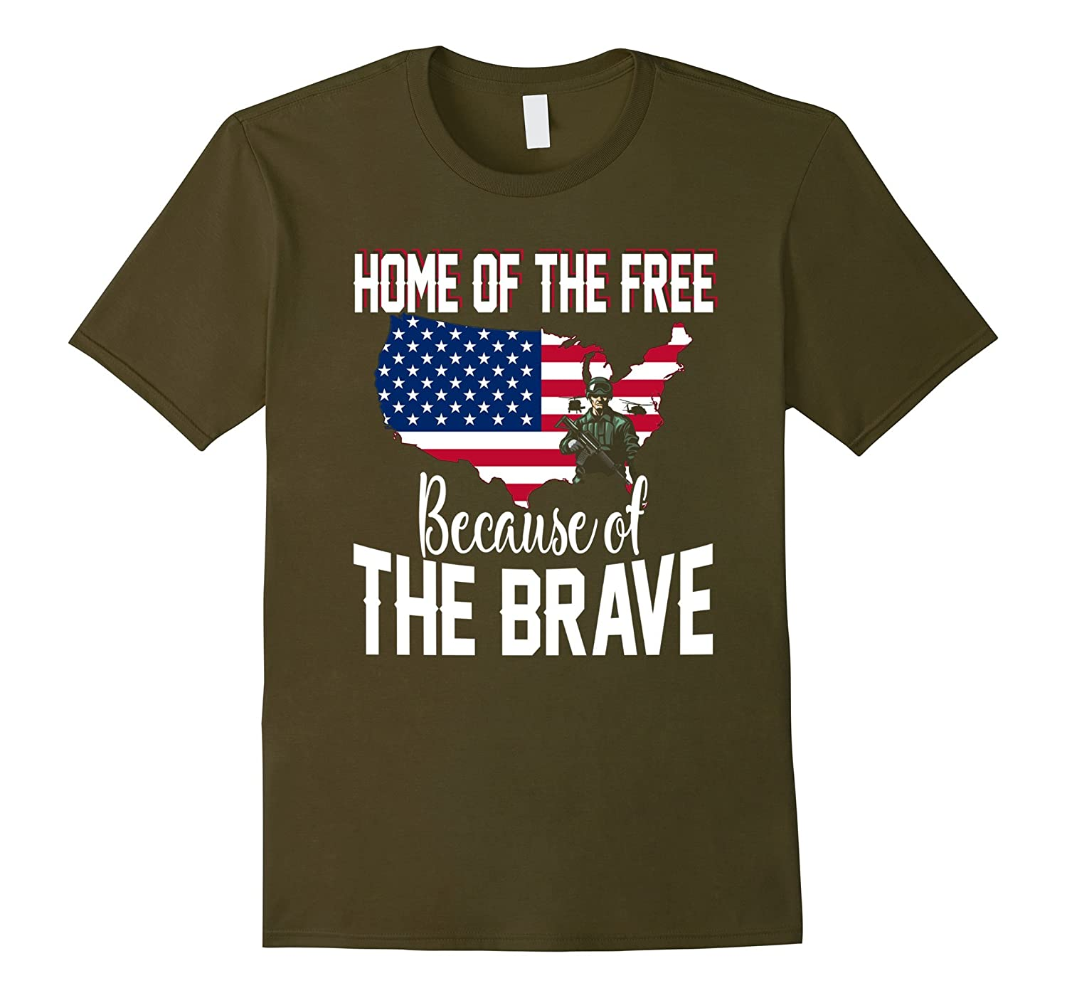 Home of the Free Because of the Brave TShirt-FL