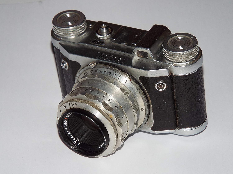 Unbekannt Altix Dresden con Carl Zeiss Jena Opjektiv – 2,5 – 50 – Cámara Vintage Photographica con Funda de Piel
